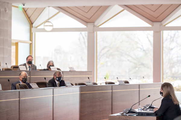 Last week, Republican lawmakers in a hearing grilled State Board of Elections Director Karen Brinson Bell over her handling of the 2020 election. (CJ photo by Maya Reagan)