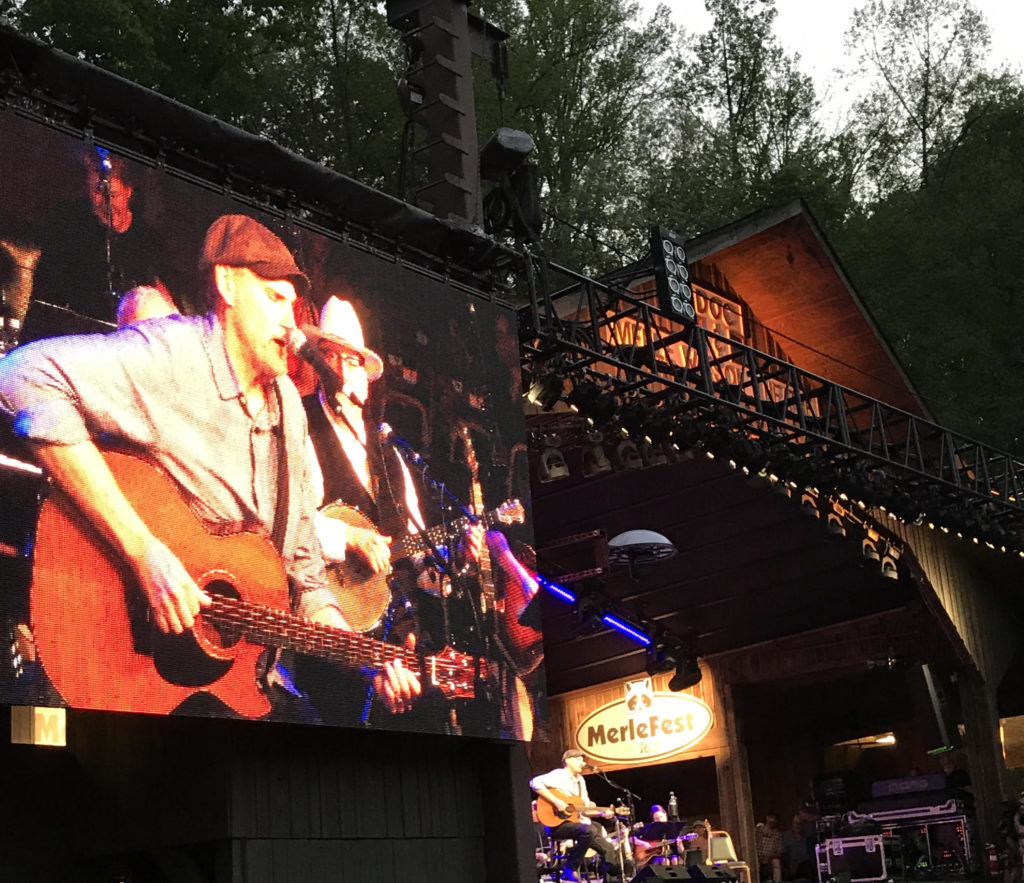 N.C. singer and songwriter James Taylor plays at Merlefest. (CJ photo by John Trump)