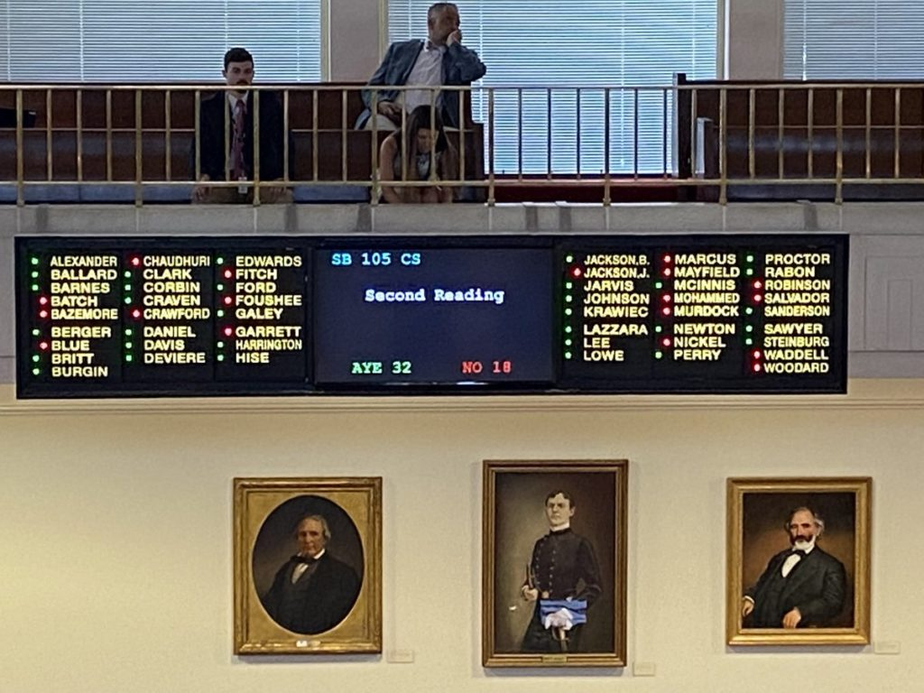 N.C. Senate votes in favor of the 2021 Appropriations Act 32-18 on June 24, 2021.