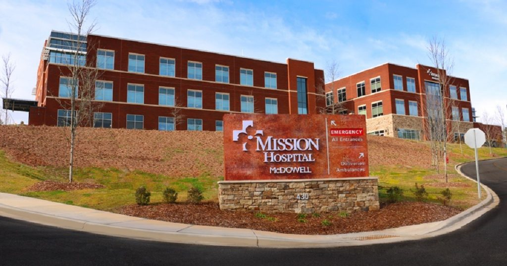 Mission Health, acquired by HCA in 2019, has 18 facilities across western N.C. controlling approximately 75% to 90% of the healthcare market there. Photo from www.missionhealth.org