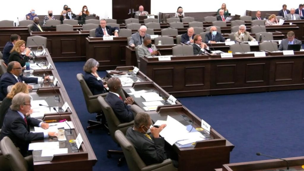 Legislators meet in committee. (Image from YouTube)