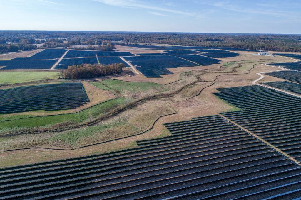 Birdseye Renewable Energy solar project in Monroe, NC, near Charlotte. (image from birdseyeenergy.com)