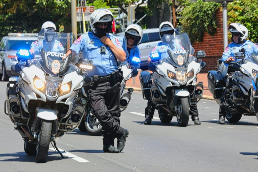 Raleigh motorcycle cops. (Photo by Gene Gallin)