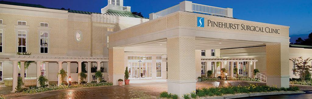 Pinehurst Surgical Clinic front entrance. Image from pinehurstsurgical.com