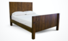 Queen Forester Bed with Standard Headboard and Footboard in Dark Walnut stain.