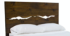 Standard Queen Live Edge Headboard in Dark Walnut stain.