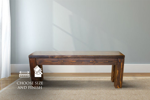 Parsons Bench stained Dark Walnut