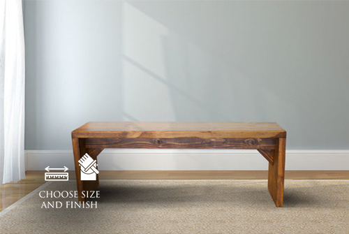 Savannah Bench stained Early American