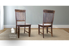 Charlotte Wood Dining Chair stained Vintage Midnight.