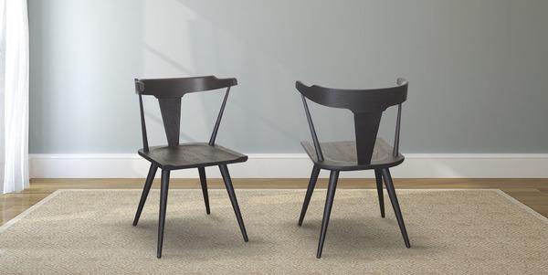 Danish Black Oak Dining Chair