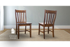 Henry Wood Dining Chair stained Dark Walnut
