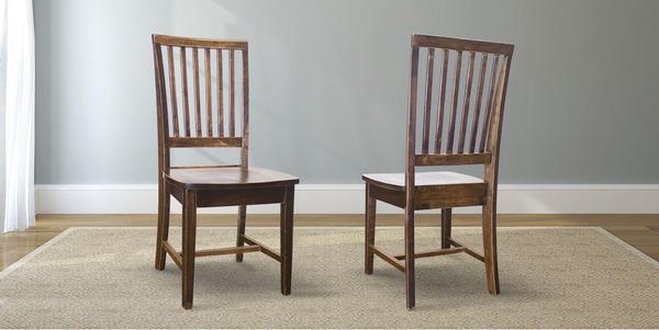 Jane Wood Dining Chair stained Dark Walnut