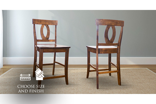 Elizabeth Wood Counter Stool stained Dark Walnut