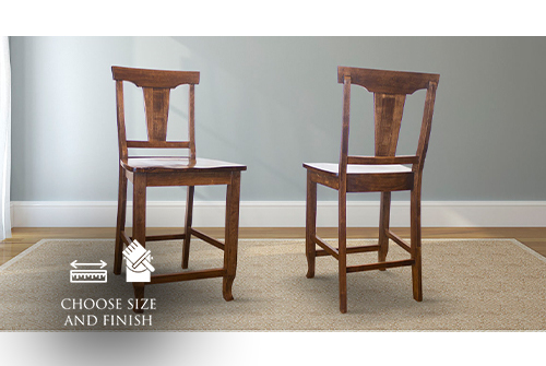 Grace Wood Counter Stool Stained Dark Walnut