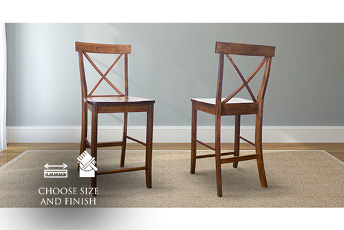 X-Back Counter Stool stained Dark Walnut