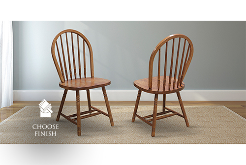 Farmhouse Spindle Back Dining Chair stained Early American.