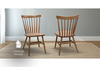 Rustic Windsor Dining Chair stained Early American, standard height.