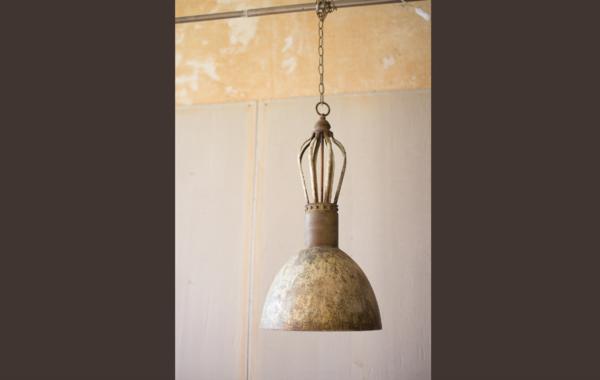 Rustic Metal Dome Pendant