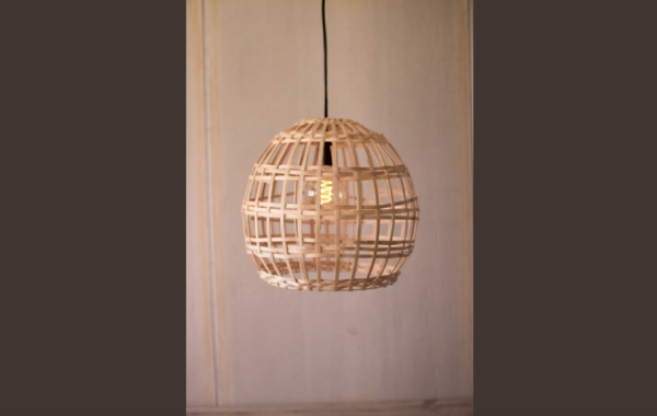Split Wood Globe Pendant