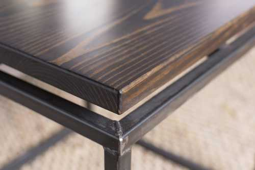 24 X 24 Coffee Table.Floating Top Steel Base End Table