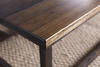 Dark Walnut stained Emmalyn Coffee Table detail.