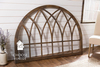 Handcrafted Wooden Arch stained Industrial Grey.