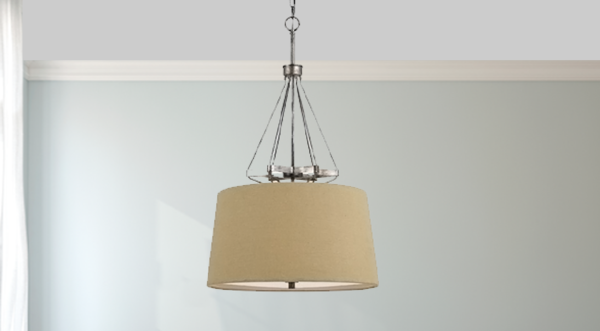 3 transitional industrial pendant dining light fixture steel and burlap