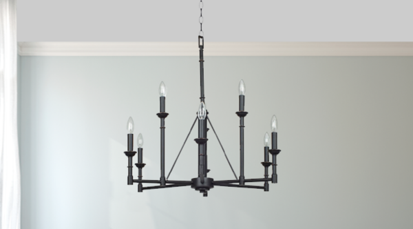 Forged Chandelier, 6 Bulb