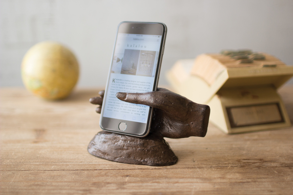 Cast Iron Hand Smart Phone Holder