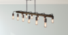 Farmhouse Bronze Pendant Chandelier, 12 Bulb