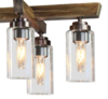 Wood & Glass 10 Light Chandelier.