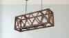 Rustic Wooden Pendant Chandelier