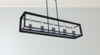 Modern Farmhouse 5 Light Matte Black Long Chandelier