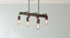 Farmhouse Bronze Pendant Chandelier, 6 Bulb