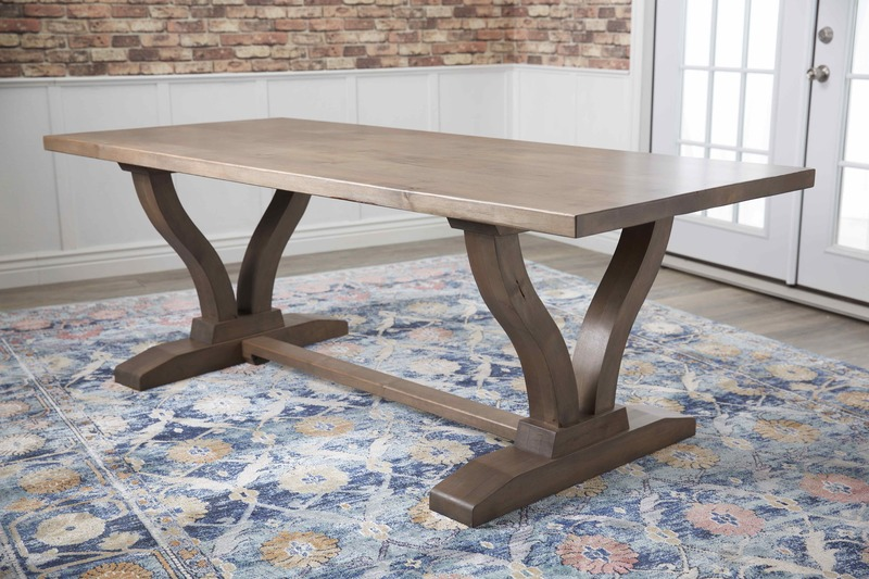 "7' x 37"" Vera Trestle Table in Barn Wood Finish"