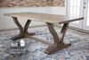 "7' x 37"" Vera Trestle Table in Barn Wood Finish"
