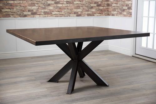 Square Shiloh Industrial Pedestal Table