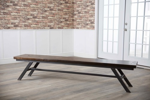 Swell Fulton Modern Industrial Bench Gmtry Best Dining Table And Chair Ideas Images Gmtryco