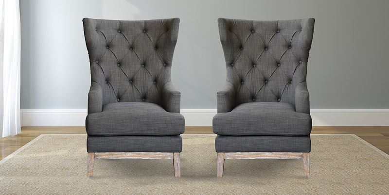Modern Tufted Wingback Chair