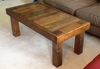 Pieced Top Coffee Table in Early American stain.