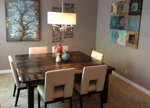 Square Farmhouse Dining Table