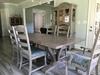 "7.5' L x 45"" W Vera Trestle Table in Barn Wood Finish."