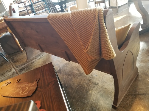 Rustic Church Pew James James Furniture Springdale