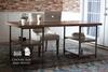 6' L Urban Industrial Desk in Barn Wood Finish.