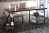 Steel and Wood Desk at 6' L in Barn Wood Finish.