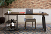 5' L Fulton Desk with a hardwood top and shelving in Tobacco Finish.