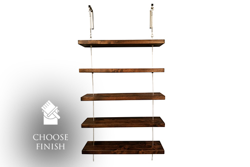Floating Turnbuckle Shelves