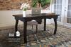 Solid Hardwood Curved Leg Desk in Charred Ember Finish.