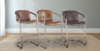 Jet Brown Leather, Chestnut Leather, and Antique Ebony Leather Lawson Stools