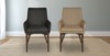 Dark Grey Upholstery and Beige Upholstery Hudson Arm Chairs